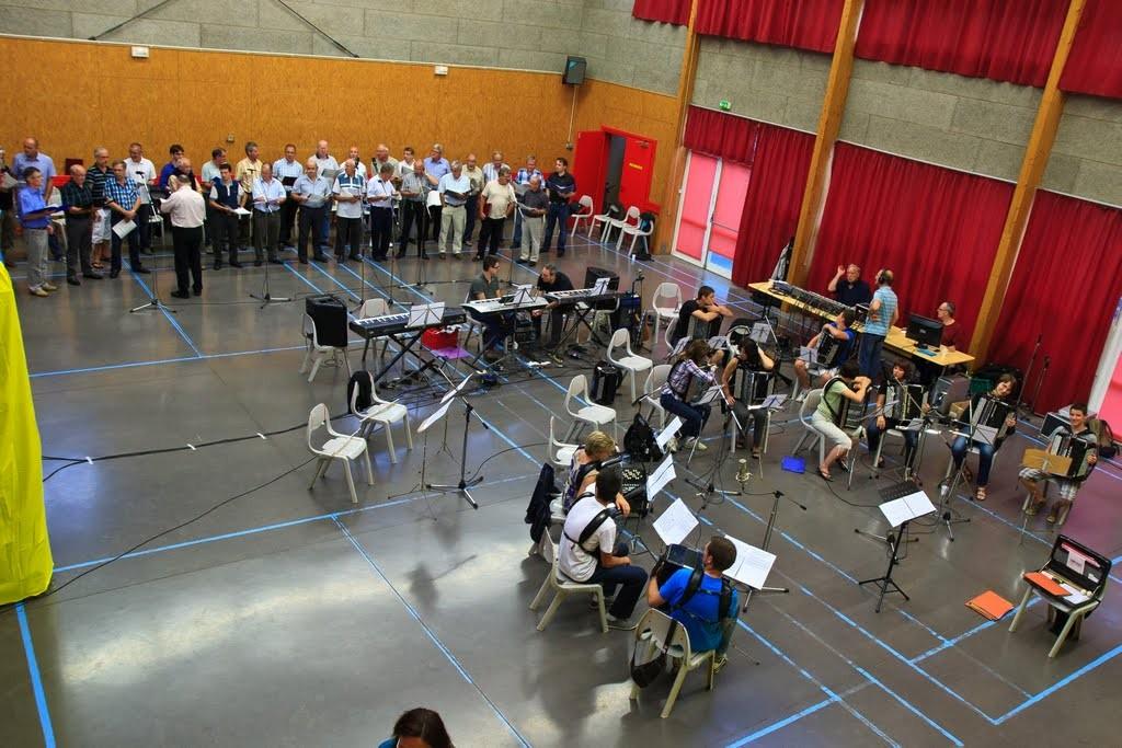 2012 : Enregistrement de Amsterdam avec le choeur d'hommes Liederkran d'Attenschwiller