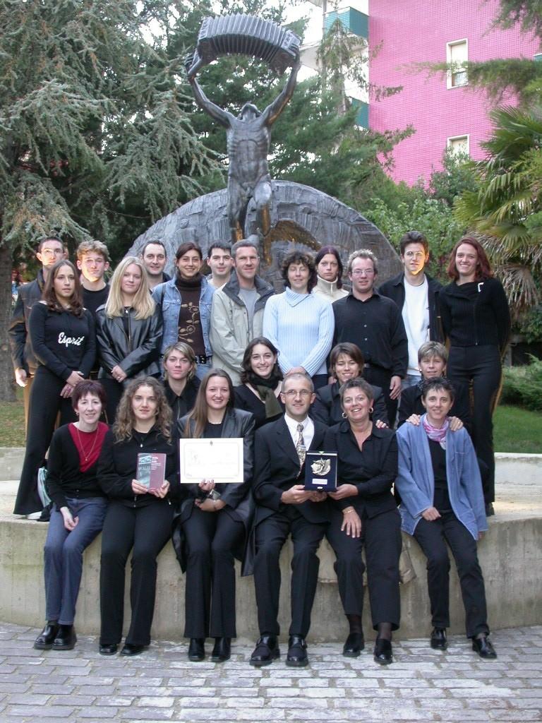 Photo souvenir au concours de Castelfidardo