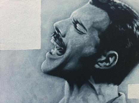 Freddie Mercury, Acryl auf Leinwand, 30 x 40 cm