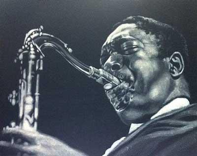John Coltrane, Acryl auf Leinwand, 40 x 50 cm