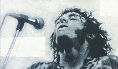 Joe Cocker, Acryl auf Leinwand, 30 x 50 cm