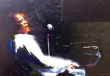 Herbie Hancock, Acryl, Wellpappe auf Leinwand, 70 x 100 cm