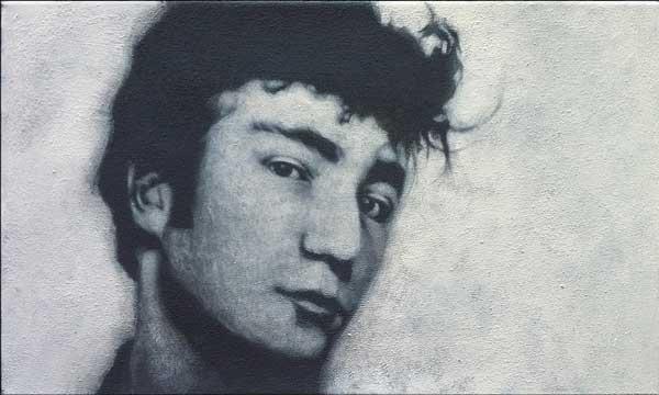 John Lennon, Acryl auf Leinwand, 50 x30 cm