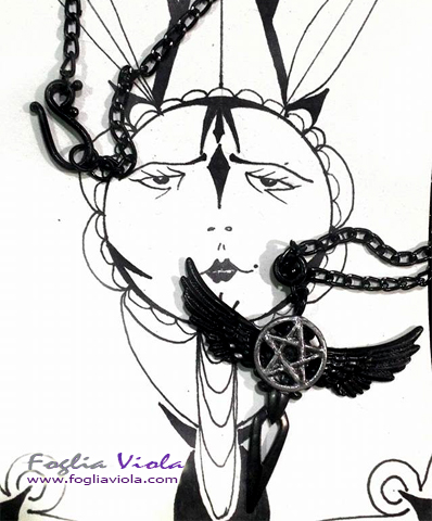 Goth pentacle
