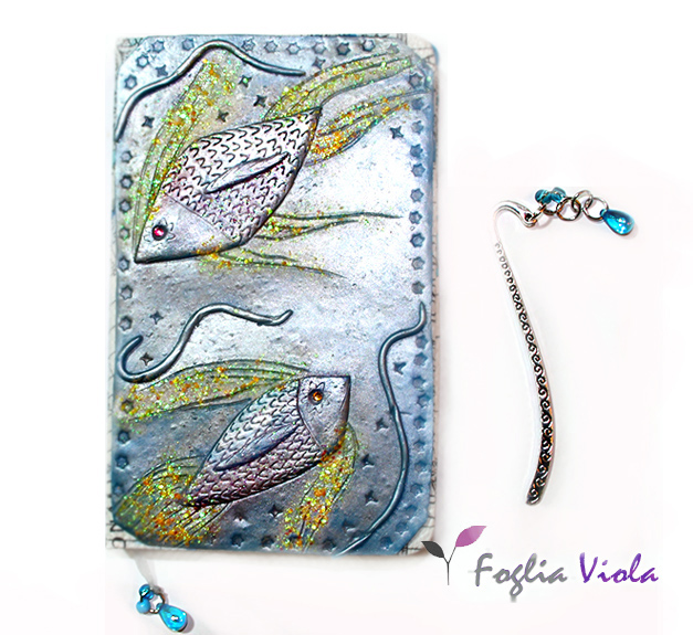 Diario con segno zodiacale dei pesci. Personalizzabile!
