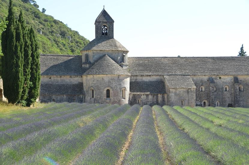 Die berühmte Abbey de Senanque, auf der Strecke St. Didier - Gordes ...