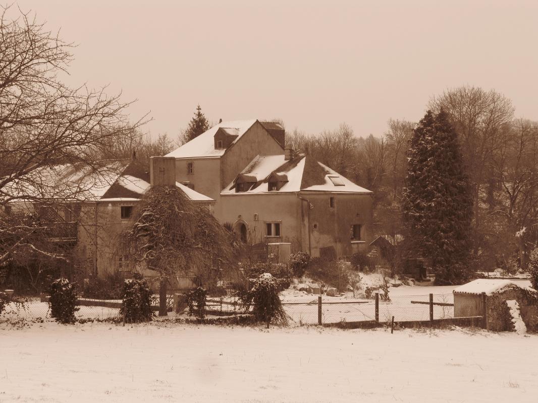 Le Moulin de Braimboeuf sous la neige