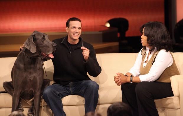 George being interviewed by Oprah...  (photo source, Arizona Daily Star)