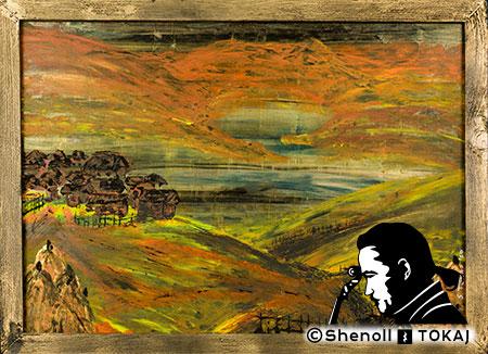 Malerei  von Shenoll Tokaj, Bild, Unikat Golden Fields, Copyright Shenoll Tokaj 2020