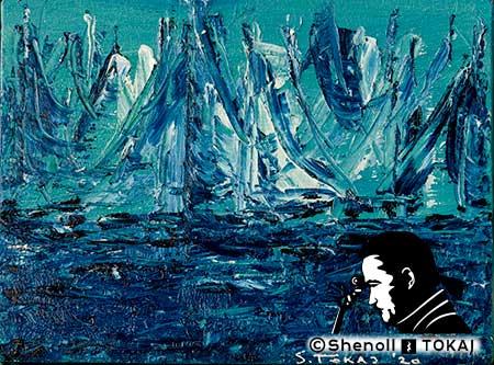 Malerei  von Shenoll Tokaj, Bild, Unikat Kieler Woche, Copyright Shenoll Tokaj 2020