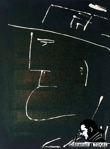 Malerei  von Shenoll Tokaj, Bild, Unikat Der Mann mit Schnupfen, Copyright Shenoll Tokaj 2020