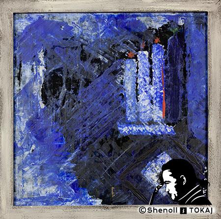 Malerei  von Shenoll Tokaj, Bild, Unikat HSV ganz oben, Copyright Shenoll Tokaj 2020