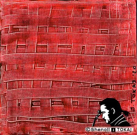 Malerei  von Shenoll Tokaj, Bild, Unikat Blutige Kompresse, Copyright Shenoll Tokaj 2020