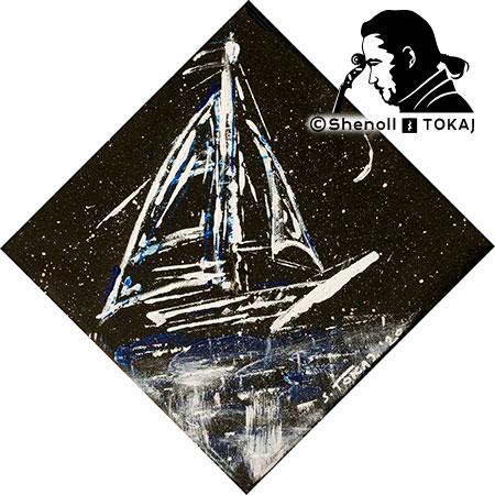 Malerei  von Shenoll Tokaj, Bild, Unikat Stille Nacht, Copyright Shenoll Tokaj 2020