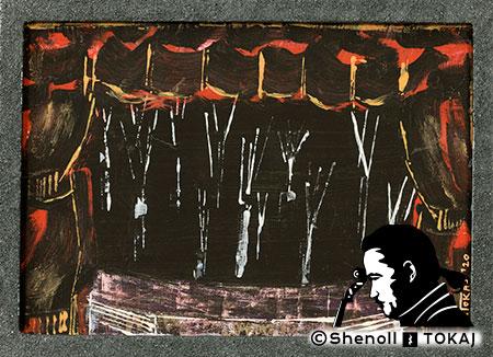Malerei  von Shenoll Tokaj, Bild, Unikat Leeres Theater, Copyright Shenoll Tokaj 2020
