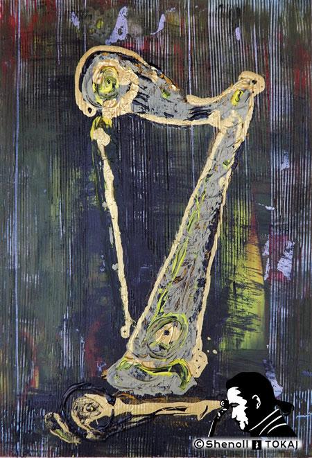 Malerei  von Shenoll Tokaj, Bild, Unikat Sieben Harfe, Copyright Shenoll Tokaj 2020