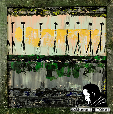 Malerei  von Shenoll Tokaj, Bild, Unikat Afrika, Copyright Shenoll Tokaj 2020