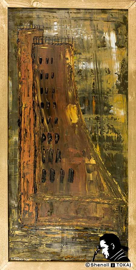 Malerei  von Shenoll Tokaj, Bild, Unikat Ehrenmal Laboe, Copyright Shenoll Tokaj 2020