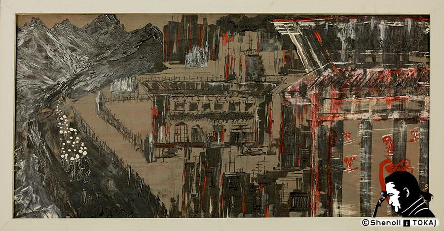Malerei  von Shenoll Tokaj, Bild, Unikat Exodus '99, Copyright Shenoll Tokaj 2020