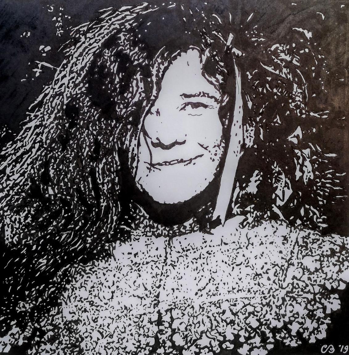 Rembrandt style Janis Joplin