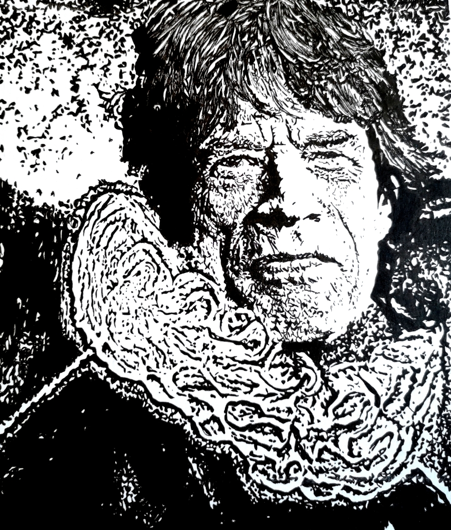 Rembrandt style Mick Jagger
