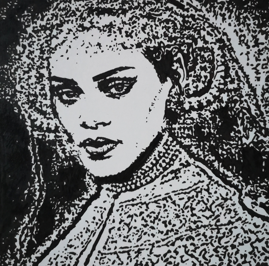 Rembrandt style Rihanna
