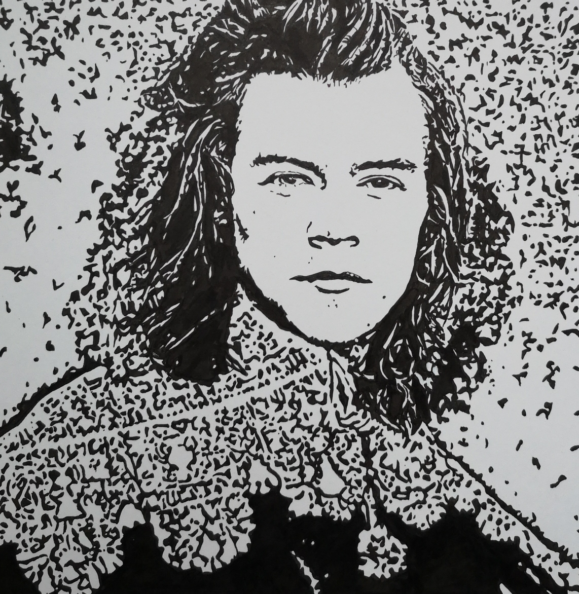Rembrandt style Harry Stiles