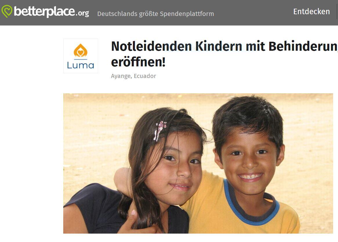 Otra posibilidad para hacer donaciones/Further donation options/Weitere Spendenmöglichkeiten