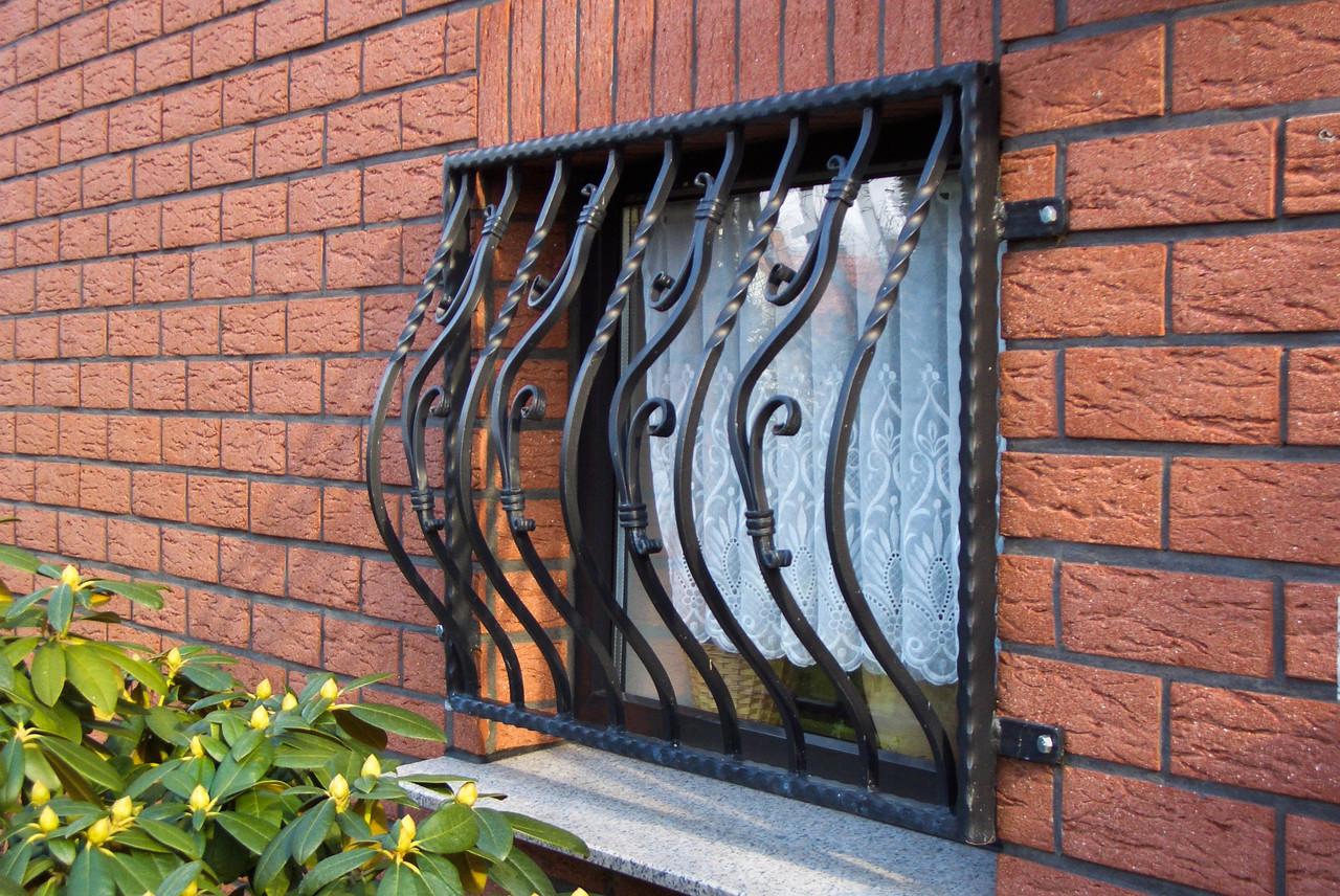 Fenstergitter lackiert schwarz