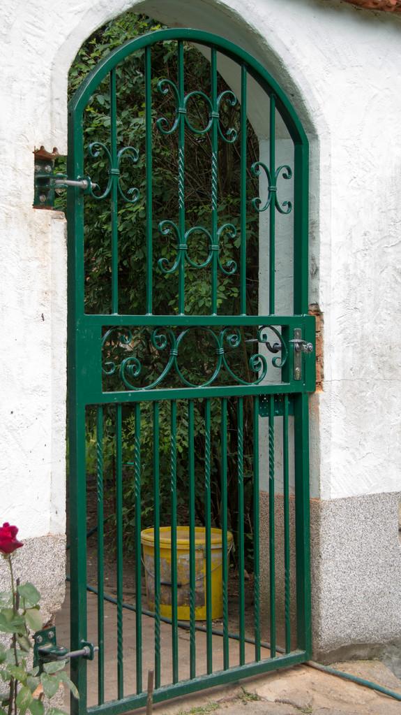 Gartentor pulverbeschichtet grün