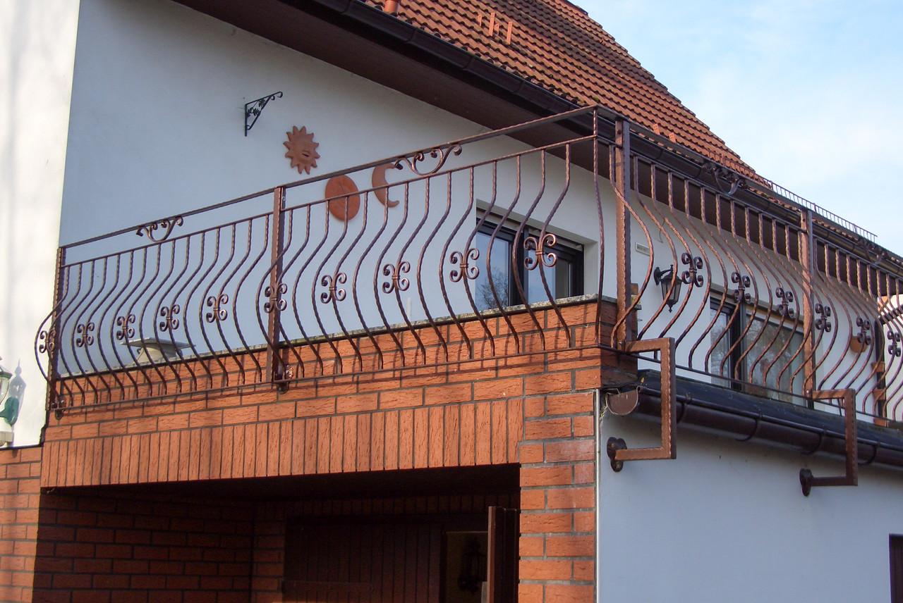 Geländer pulverbeschichtet Hammerschlag Kupfer