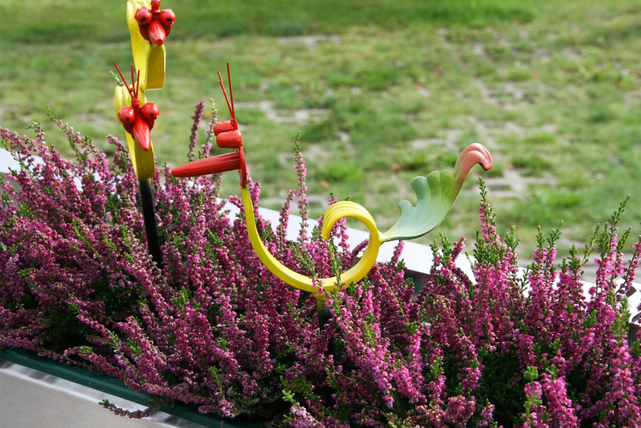 Blumenstab Vogel