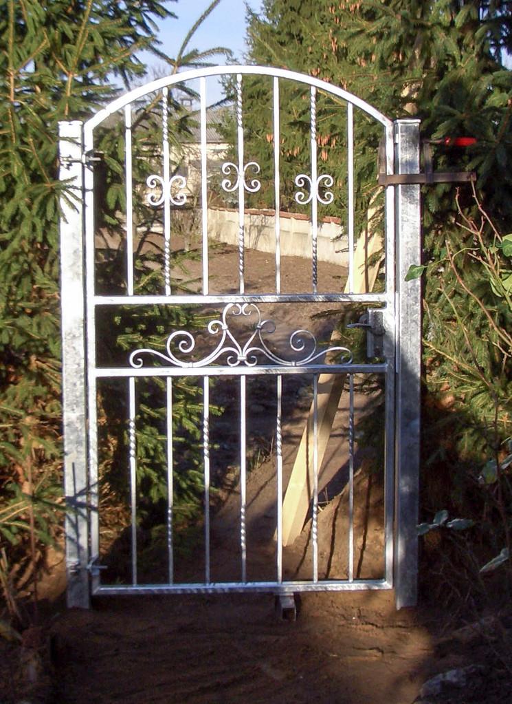 Gartentür schmiedeeisern verzinkt