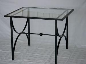 Tisch Glasplatte schwarz lackiert