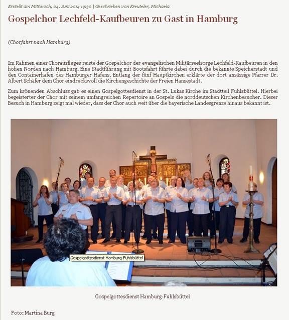 2014 - Chorfahrt nach Hamburg