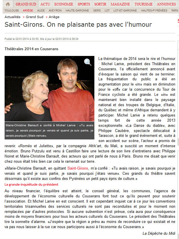 theatre ariege saison