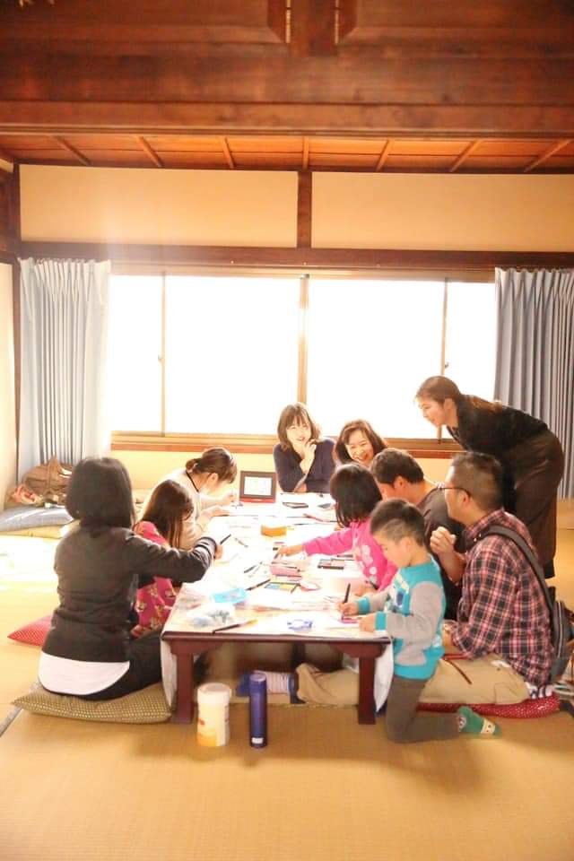 京都九条 九条湯銭湯dEnglish cafe ワークショップ