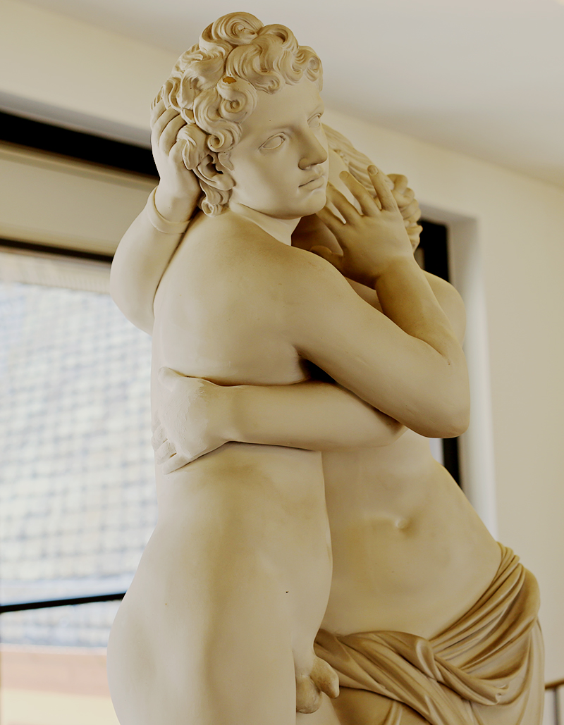 In einer ersten Fassung Friedrich Schillers Don Carlos, welche schon 1785 erschienen war, taucht die Mannheimer Kaunus und Byblis Gruppe in einer Regieanweiseung des 1. Akts als Requisite auf.