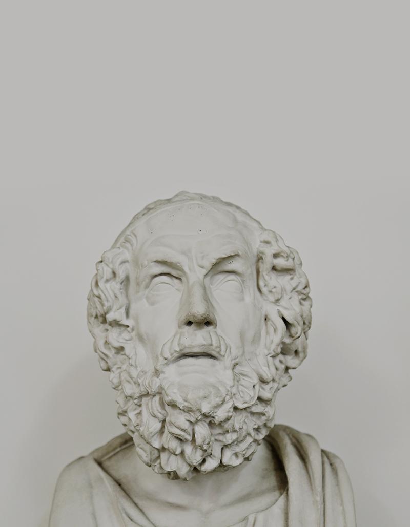 Hat Homer tatsächlich gelebt? Dieses Rätsel lässt sich selbst mit dem vorhandenen Gipsabguss nicht lösen, doch auch Schiller und Goethe konnten sich der Anziehungskraft der Statue nicht erwehren!
