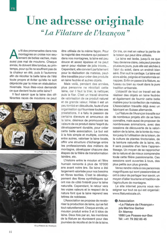 Villars Magazine - une adresse originale