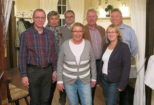 Zum Vorstand gehören (v.l.r): Wolfgang Nowak, Ulrike Drossel, Jörg Düllmann, Barbara Schriek, Thomas Wolter, Stefanie Meier, Frank  Niehaus