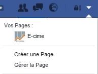 créer sa page professionnelle facebook avec e-cime.fr