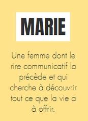 """Marie du duo """"les épicées"""" par e-cime.fr"""