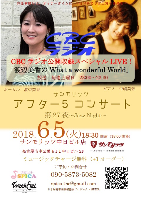 6/5(火) 渡辺美香のWhat a Wonderful World