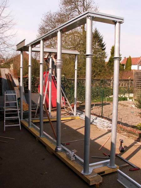 """structure veranda acier Fineline """" à blanc"""""""