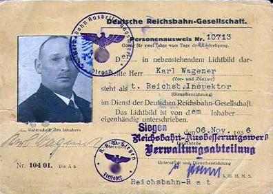 Personenausweis des RAW Siegen 1936