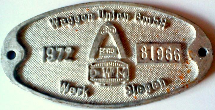1972: Waggon Union/SEAG, Fabrik-Nummer 81966