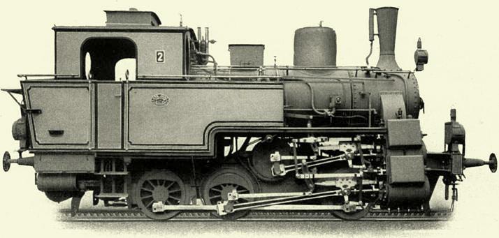 Zahnradlok für die St. Andreasberger Eisenbahn von 1913