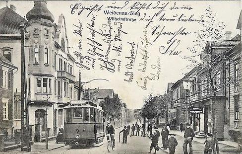 Weidenau: TW 9 in der Wilhelmstrasse 1905