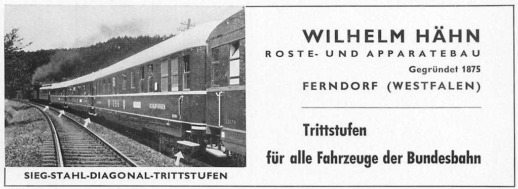 1953 Hähn-Trittstufen aus Ferndorf